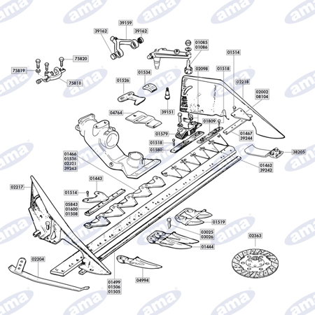 Combine parts and mower blades | AMA